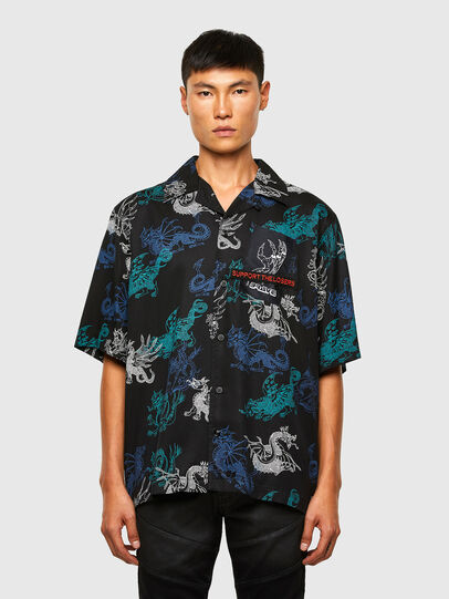 Diesel - S-BEACH, Negro - Camisas - Image 1