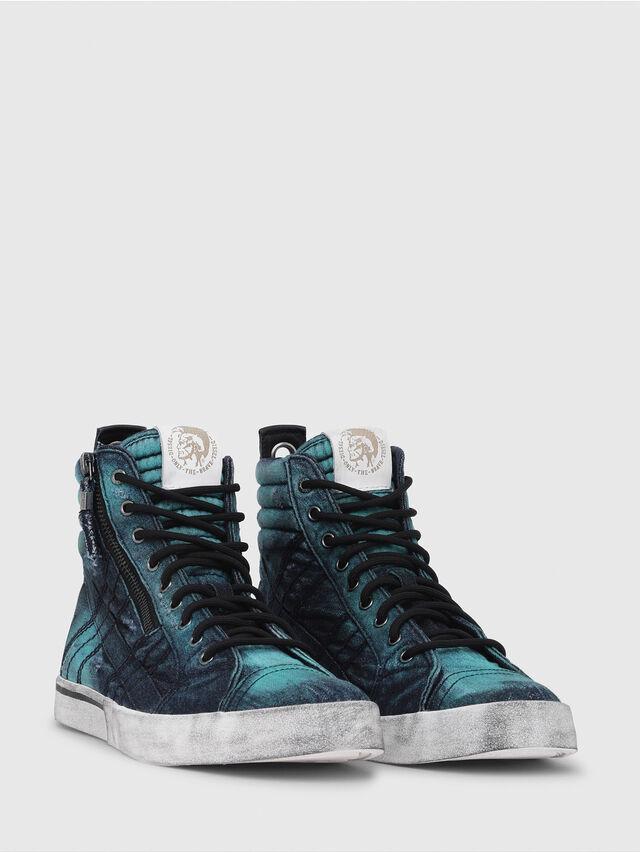 Diesel - D-VELOWS MID LACE, Azul Turquesa - Sneakers - Image 2