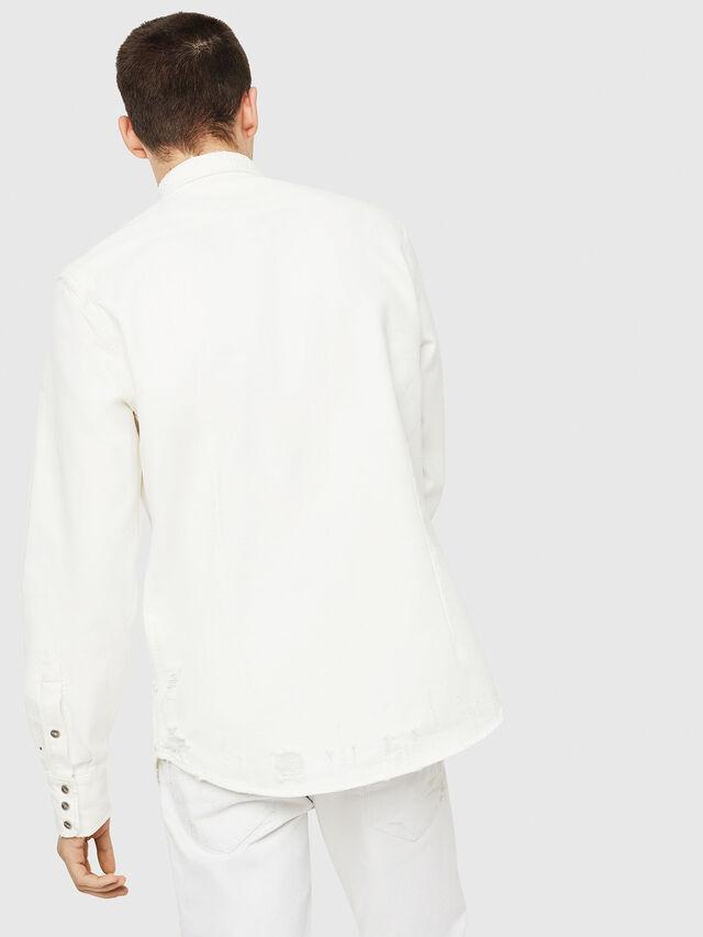 Diesel - D-LEO, Blanco - Camisas de Denim - Image 2