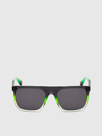 Diesel - DL0299, Negro/Verde - Gafas de sol - Image 1