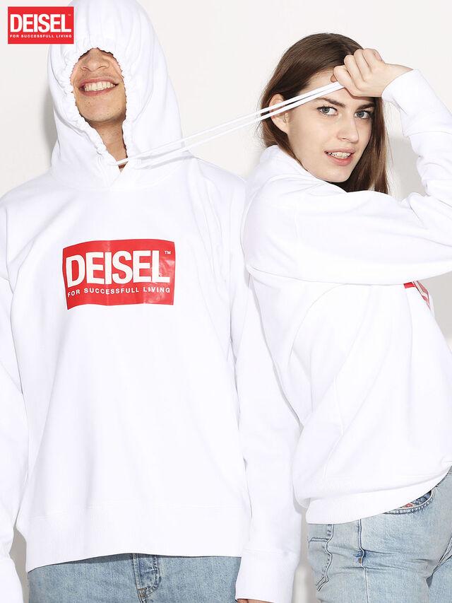 Diesel - DEIS-SHOOD, Blanco - Sudaderas - Image 1