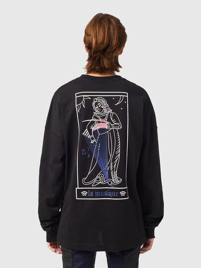 Diesel - T-BLONG, Negro - Camisetas - Image 2