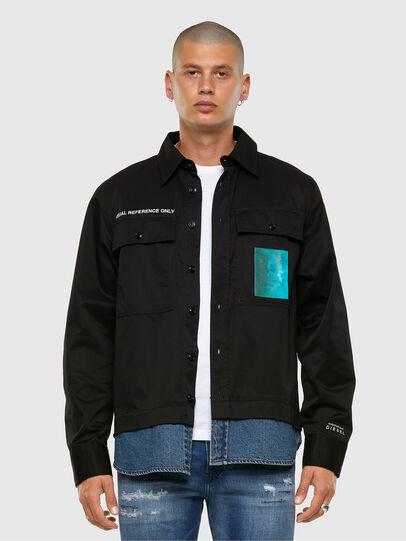 Diesel - S-DUSTIN, Negro - Camisas - Image 7