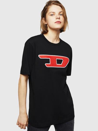 Diesel - T-JUST-DIVISION-D-FL, Negro - Camisetas - Image 1