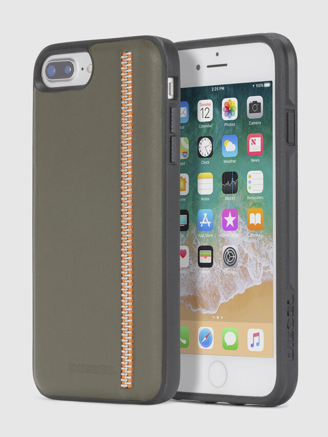 ZIP OLIVE LEATHER IPHONE 8/7/6s/6 CASE, Verde Oliva