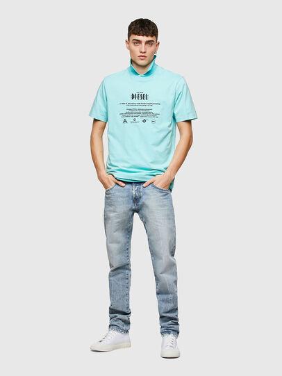 Diesel - T-JUST-E9, Azul Claro - Camisetas - Image 4