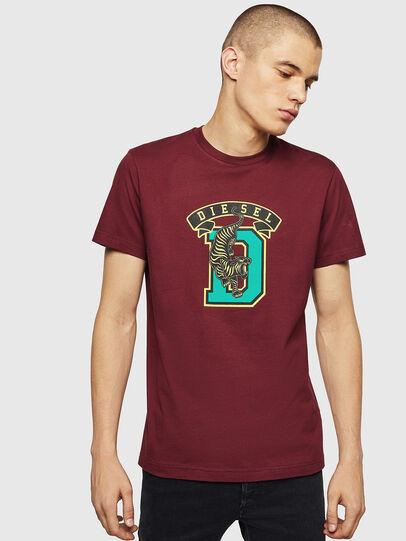 Diesel - T-DIEGO-B4, Burdeos - Camisetas - Image 1