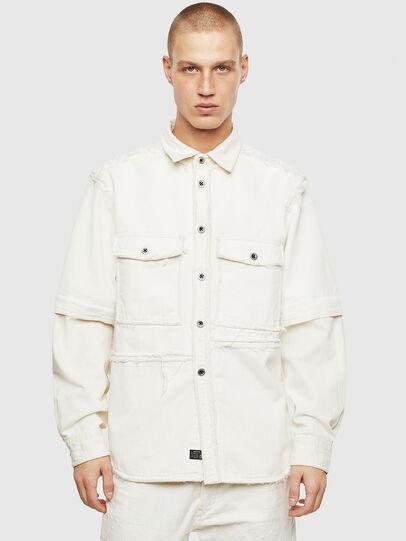 Diesel - D-KURTIS, Blanco - Camisas de Denim - Image 1
