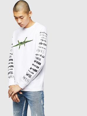 T-JUST-LS-B2, Blanco - Camisetas