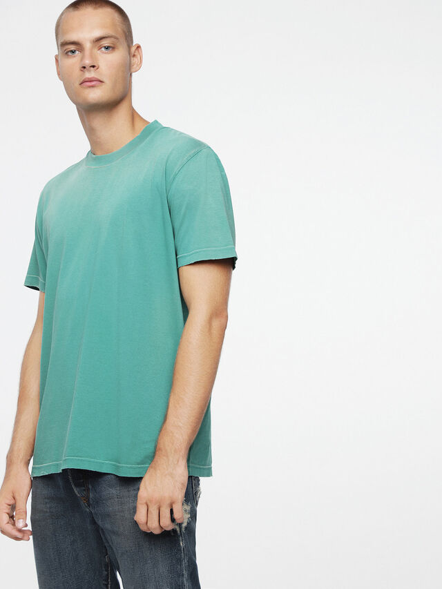 Diesel - T-JOEY-T, Verde Agua - Camisetas - Image 1