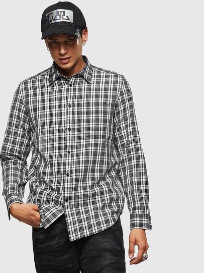 Diesel - S-TROPP, Blanco/Negro - Camisas - Image 1