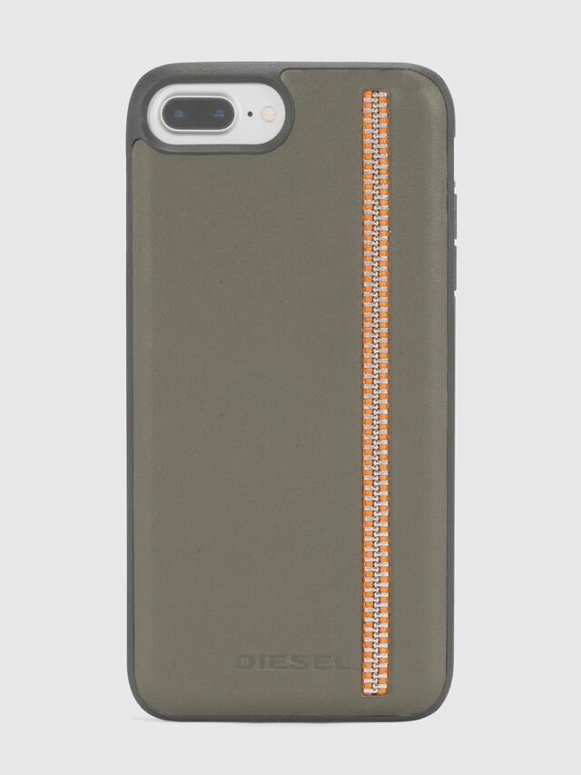 ZIP OLIVE LEATHER IPHONE 8 PLUS/7 PLUS/6s PLUS/6 PLUS CASE, Verde Oliva