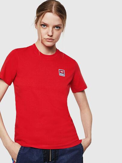Diesel - T-SILY-ZE, Rojo Fuego - Camisetas - Image 1