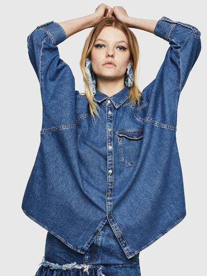 Diesel - DE-NOVA, Azul medio - Camisas de Denim - Image 3