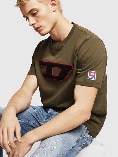Diesel - T-JUST-DIVISION-D, Verde Militar - Camisetas - Image 4