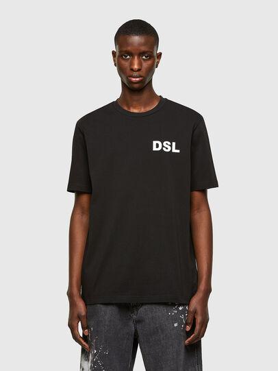 Diesel - T-JUST-E10, Negro - Camisetas - Image 1