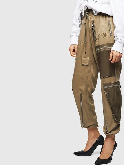 Diesel - P-LEX, Verde Militar - Pantalones - Image 5