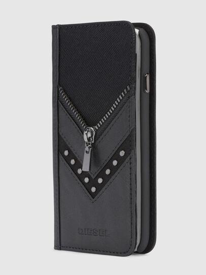 Diesel - BLACK DENIM/STUD/ZIPPER IPHONE X FOLIO,  - Fundas tipo libro - Image 4