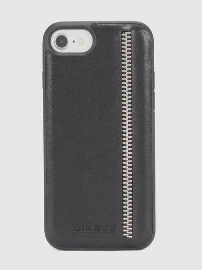 Diesel - ZIP BLACK LEATHER IPHONE 8 PLUS/7 PLUS/6s PLUS/6 PLUS CASE, Negro - Fundas - Image 2