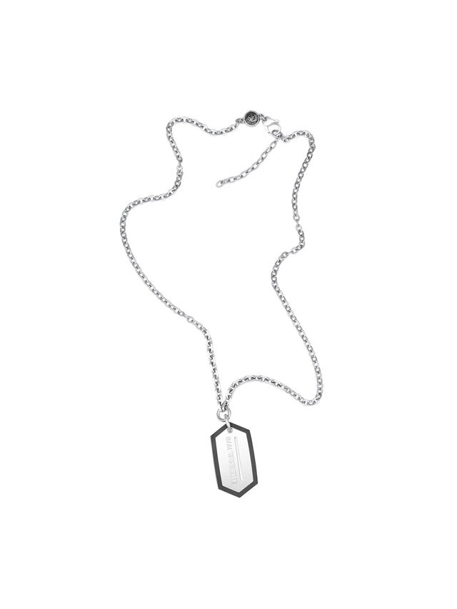 Diesel - NECKLACE DX0996, Plata - Collares - Image 1
