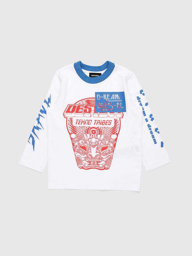Diesel - TENNUB-R, Blanco/Rojo/Azul - Camisetas y Tops - Image 1