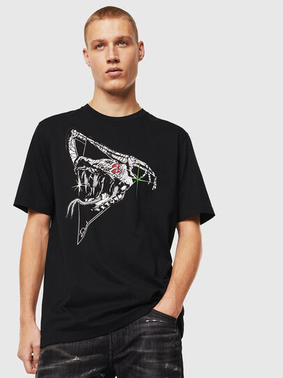 Diesel - T-JUST-J15, Negro - Camisetas - Image 1