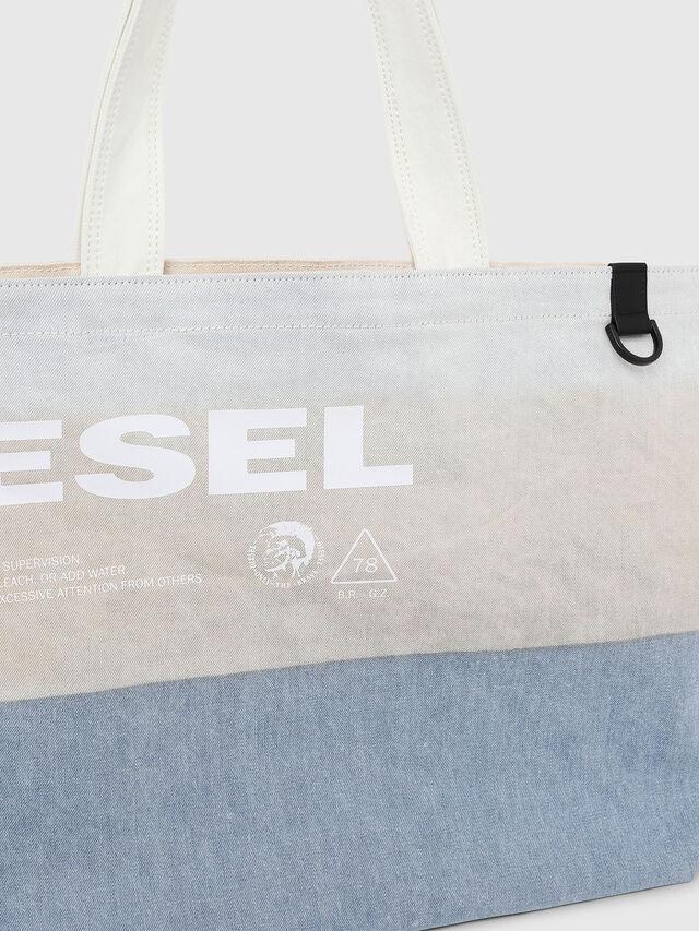 Diesel - D-THISBAG SHOPPER L, Blanco/Azul - Bolsos Shopper y Al Hombro - Image 3