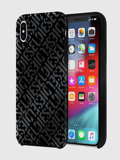 Diesel - DIESEL PRINTED CO-MOLD CASE FOR IPHONE XS MAX, Negro - Fundas - Image 1
