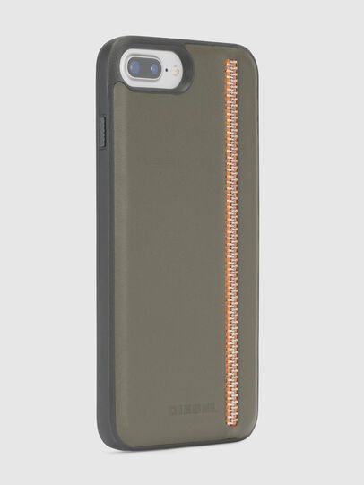 Diesel - ZIP OLIVE LEATHER IPHONE 8/7/6s/6 CASE,  - Fundas - Image 5
