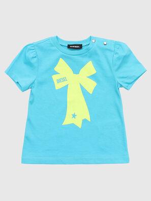 TASHAB, Celeste - Camisetas y Tops
