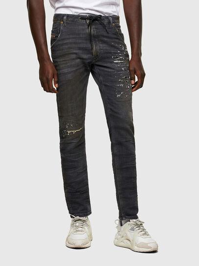Diesel - Krooley JoggJeans® 069SX, Negro/Gris oscuro - Vaqueros - Image 1