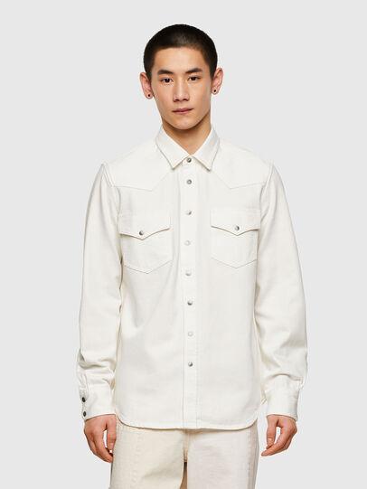 Diesel - D-EAST-P1, Blanco - Camisas de Denim - Image 1