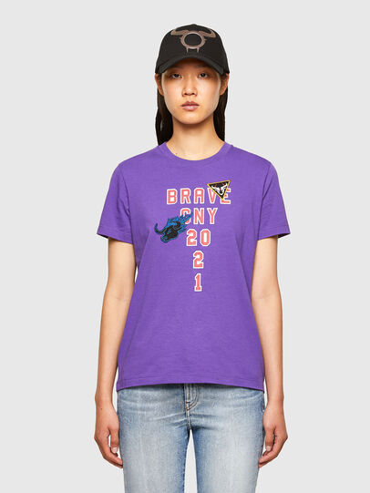 Diesel - CL-T-SILY-O, Violeta - Camisetas - Image 1