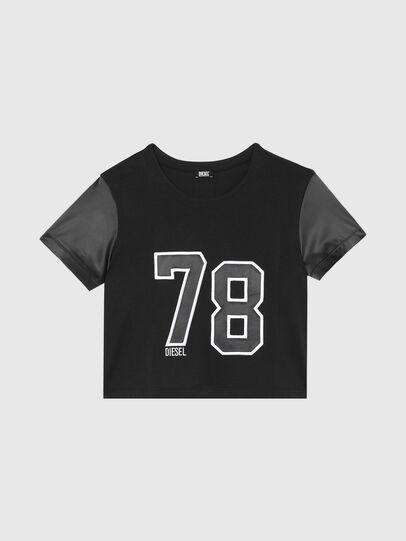 Diesel - UFTEE-ROUNDIE-SAT, Negro - Camisetas - Image 1