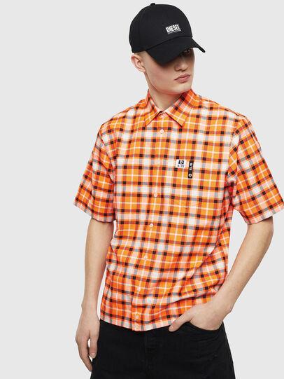 Diesel - S-ATWOOD-A, Naranja - Camisas - Image 1
