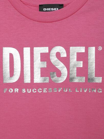 Diesel - TJUSTLOGOB-FL MC-R, Rosa - Camisetas y Tops - Image 3