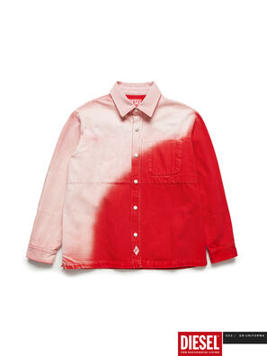 GR02-B301, Rojo/Blanco - Camisas de Denim
