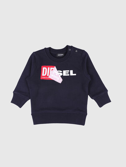 Diesel - SALLIB, Azul Marino - Sudaderas - Image 1