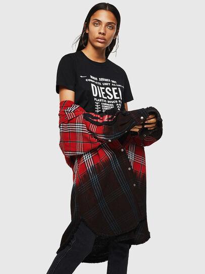 Diesel - T-SILY-ZF, Negro - Camisetas - Image 4
