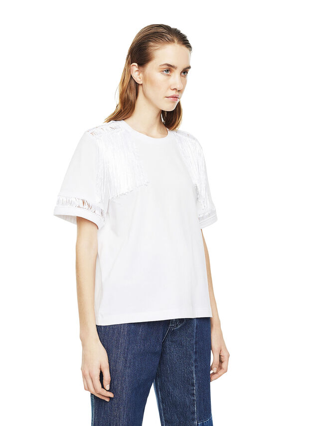 Diesel - TREENA, Blanco - Camisetas - Image 3