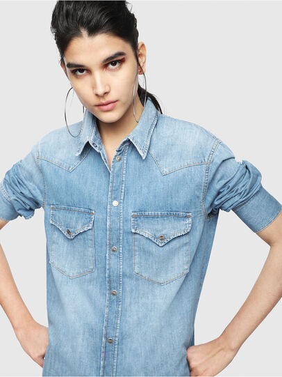 Diesel - DE-BLANCHE, Blue Jeans - Vestidos - Image 3