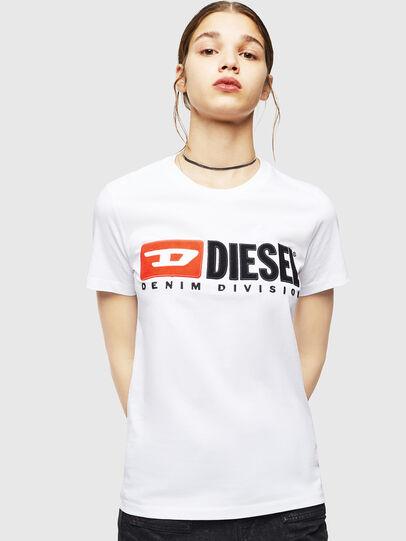 Diesel - T-SILY-DIVISION, Blanco - Camisetas - Image 1