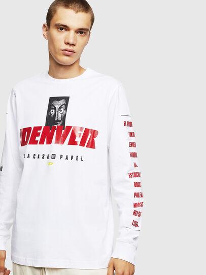 Diesel - LCP-T-JUST-LS-DENVER, Blanco - Camisetas - Image 1
