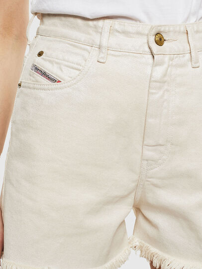 Diesel - DE-EISELLE, Blanco - Shorts - Image 4