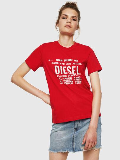 Diesel - T-SILY-ZF, Rojo Fuego - Camisetas - Image 1