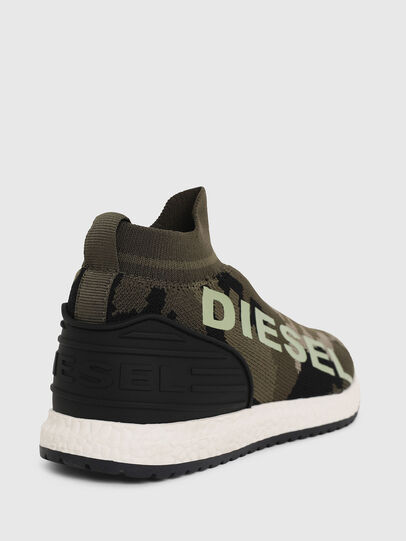Diesel - SLIP ON 03 LOW SOCK, Verde Camuflaje - Calzado - Image 4