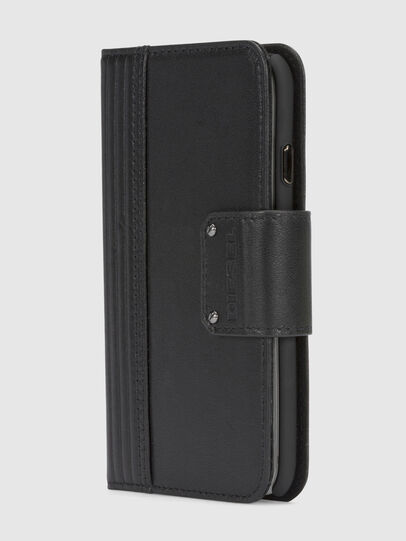 Diesel - BLACK LINED LEATHER IPHONE 8/7 FOLIO,  - Fundas tipo libro - Image 2