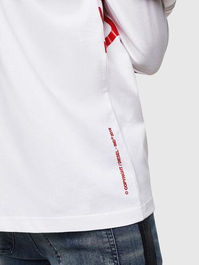 Diesel - T-JUST-LS-STAR, Blanco - Camisetas - Image 5