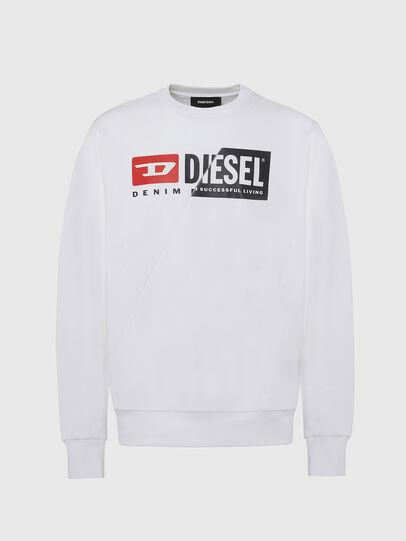 Diesel - S-GIRK-CUTY, Blanco - Sudaderas - Image 1