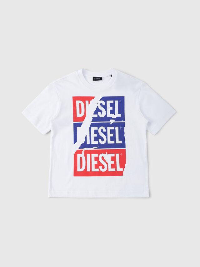 Diesel - TJUSTZC OVER, Blanco - Camisetas y Tops - Image 1